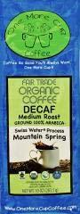One More Cup - Organic Fair Trade Mountain Spring Blend Swiss Water Processed Decaffeinated Medium Roast Ground Arabica Coffee,10 oz