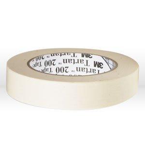3M Tartan 200 Crepe Paper Utility Purpose Masking Tape, 200 Degree F Performance Temperature, 19 lbs/in Tensile Strength, 55m Length x 12mm Width, Tan ()