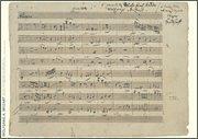 Hal Leonard Wolfgang Amadeus Mozart Music Manuscript Poster Henle Music Folios Series by Wolfgang Amadeus ()