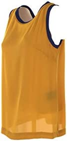 HANITA Top Donna Giallo Profili Bluette MOD H.M1943.2791 Made in Italy