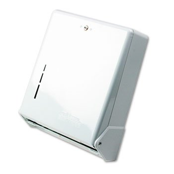 SANT1905WH - True Fold Metal Front Cabinet Towel Dispenser, 11 5/8 X 5 X 14 1/2, White