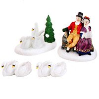 Department 56 Dickens Village Twelve Days of Christmas Seven Swans A-swimming