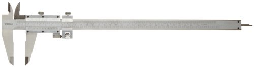 (Fowler 52-058-012 Stainless Steel Fine Adjustment Vernier Caliper with Satin Chrome Finish, 0-12