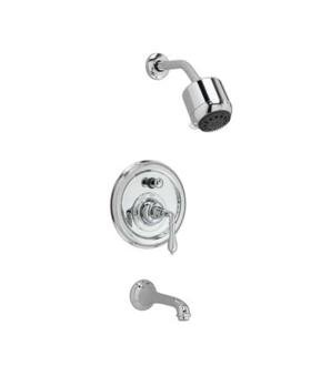 Jado 853496.144 Classic Pressure Balance Tub and Shower Trim Kit with Straight Lever Handle, Brushed Nickel