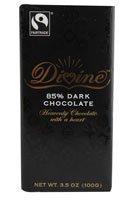 Divine Chocolate, Bar Dark Chocolate 85%, 3.5 Ounce
