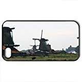 Amsterdam Vacation 20 Windmills - Case Cover for iPhone 4 and 4s (Farms Series, Watercolor style, - Watercolor Windmill