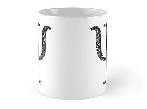 Psi Greek Letter Symbol Grunge Style 11oz Mug - Best gift for family - Symbols Letters Greek