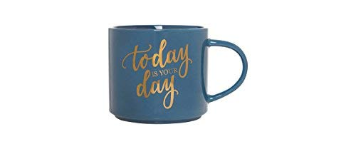 Stackable 15oz Porcelain Mug by Clay Art (Today Is Your -