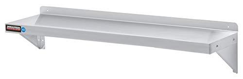 Steel Stainless Shelf Wall Commercial (Stainless Steel Wall Shelf by DuraSteel - 60