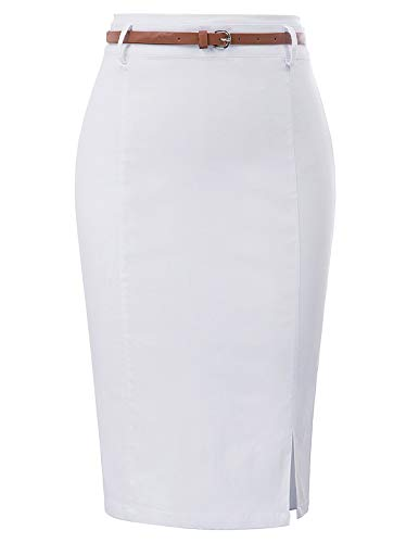 Kate Kasin Women's Stretchy Business Pencil Skirt for Office Wear Size S ()