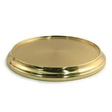 Communion Base - 1 X Brasstone Aluminum Communion Cup Tray Base