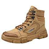 Haforever Men's Fashion Outdoor Boots Desert Combat Hiking Riding Boots Hiking Shoes Outdoor Sneakers Brown