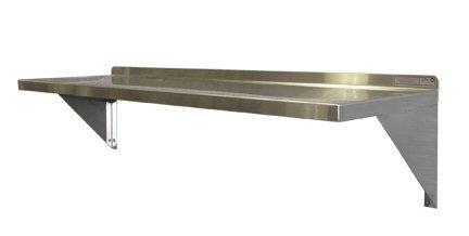 PVIFS WS1272 EZ Clean Solid Wall Mount Shelf, 72'' Length x 12'' Width x 12'' Height