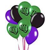 The Incredible Hulk Theme Emblem Party Latex 8 Piece Balloon Set 12 Inch]()