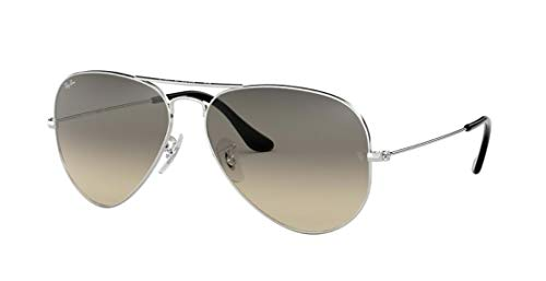 Ray Ban RB3025 AVIATOR LARGE METAL 003/32 55M Silver/Gray Gradient Sunglasses For Men For ()