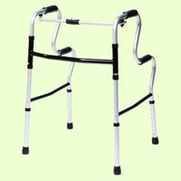 Lumex 700175C-2 UpRise Onyx Folding Walker, Color Onyx & Aluminum, Case of 2