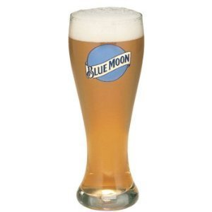 Blue Moon Glass (Blue Moon 22 Oz Large Beer)