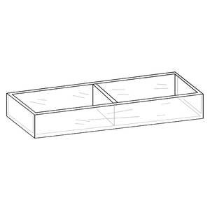 Acrylic Display Tray, Countertop, 2 Compartment