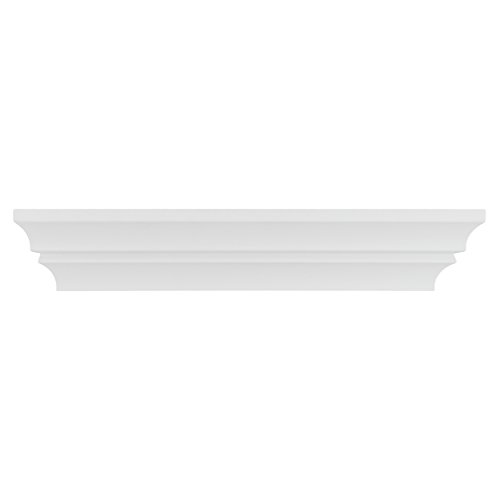 Kiera Grace Madison Contoured Wall Ledge & Shelf, 16-Inch, White (Accent Shelf)