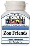 21st CENTURY ZOO FRIENDS COMPARE TO FLINTSTONES® COMPLETE-60 CHEWABLE TABLETS For Sale