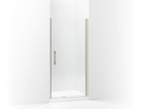 (Sterling 5699-34N-G05 Finesse Peak Frameless Pivot Shower Door with Clear Glass, 34.5-in W x 67-in H,)
