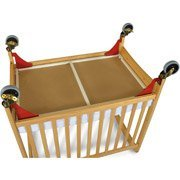 Foundations First Responder Evacuation Frame with Antique Brass Casters for Natural SafetyCraft, Serenity and Biltmore Compact Cribs by - Crib Evacuation Frame