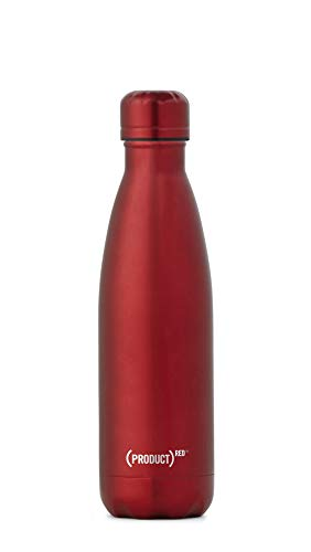 (S'well 10017-G17-12860 ((PRODUCT) RED Stainless Bottle, 17 oz, Ruby)