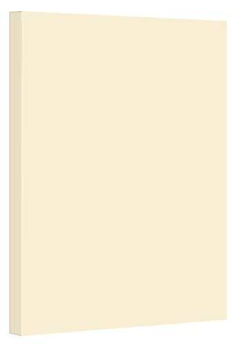 Colored Cardstock Paper 67lb, 8.5 x 11 and 11 x 17 8.5 x 14-250 Sheets Per Pack. (8.5 x 14, Cream) ()