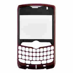 Housing (Faceplate with Lens) for BlackBerry 8330 Curve (Dark Red)