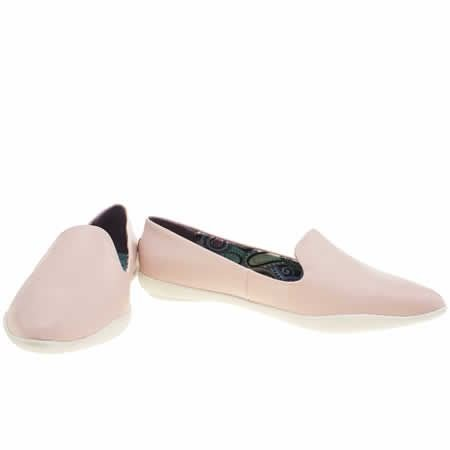 Blowfish Cleo Rosa Blanco PU Mujeres Flats Pumps Slipons Zapatos