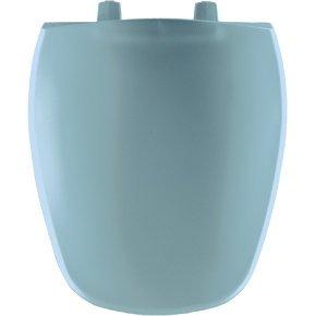 Bemis 1240200024 Eljer Emblem Plastic Round Toilet Seat, Twilight Blue - Toilet Seat Elongated Eljer