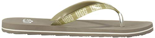 Infradito Spiaggia Ugg Oyster Logo Beige Donna Sandali Simi Graphic Da wq7AFa