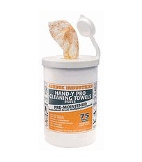 Aervoe 5025: Hand-y Pro Scrubbing Towels (premoistened) 75 ct tub (Tub Of Towels compare prices)