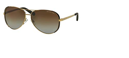 d3b0d7e766 Michael Kors MK5004 Chelsea Aviator Polarized Sunglasses Gold w Brown  Gradient (1014 T5) MK 5004 1014T5 59mm Authentic