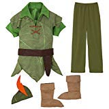 Disney Peter Pan Costume Authentic [ 2 , 3 ] [ 4 ] [ 5 , 6 ] [ 7 , 8 ] [ 10 ] (XS 4 Extra Small)