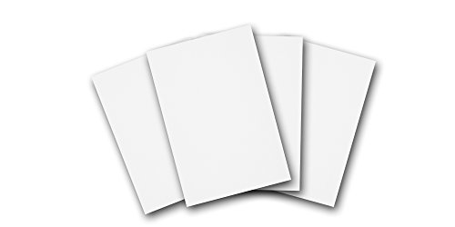 Premium Heavy White 5'' x 7'' Thick Card Stock - Standard Invitation Size Great for Printing DIY (100 Pack) by CutCardStock