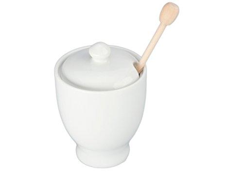 Bia Cordon Blue, Honey Jar With Dipper 8 Ounce (Honey Pot Porcelain)