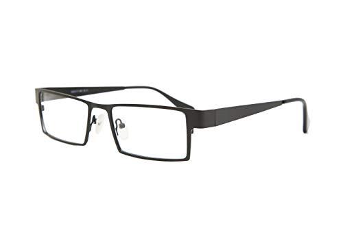 SmartBuy Collection Maxim Unisex Prescription Eyeglass Frames - Full Rim Rectangular Designer Glasses Frame - Maxim Black ()