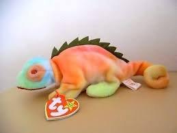 Ty Beanie Babies - Iggy the Iguana - Dye Beanie Baby Ty