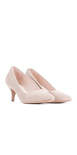 VEXED Zapato Salón Tacón Medio Color - Beige, Talla Zapatos Mujer - 37