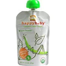 Happy Baby Organic Baby Food Stage 1 Green Beans -- 3.5 oz by Happy Baby