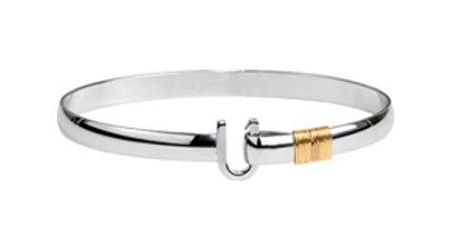 Hook The Company 6mm Two Tone Original Bracelet 8 In (Silver Caribbean Bracelet Hook)
