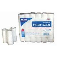 Dukal Rolled Gauze, 3''x5yd, 2 ply, Non-Sterile, 12/bag by Dukal (Image #1)