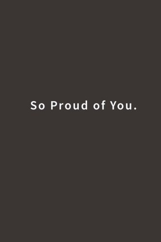 So Proud of You.: Lined notebook pdf
