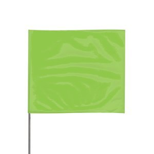4'' x 5'' x 36'' Stake Lime Glo PVC Wire Stake Flag 100Ct by PRESCO PRODUCTS