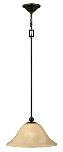 Hinkley 4661OB Traditional One Light Pendant from Bolla collection in Bronze/Darkfinish,