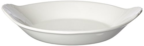 Maxwell and Williams Basics Round Au Gratin Dish, 6.5-Inch, White
