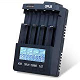 (Opus BT - C3100 V2.2 Digital Intelligent 4 Slots LCD Battery Charger Compatible with Li-ion NiCd NiMh Batteries - US Plug (PURPLISH BLUE))