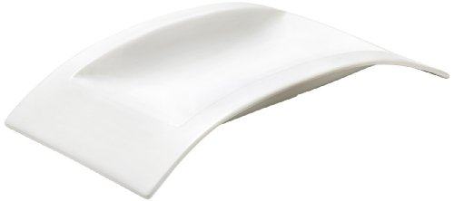 Browne Foodservice 563886 Alare Collection Rectangular Ceramic Platter, 15 by 8-Inch