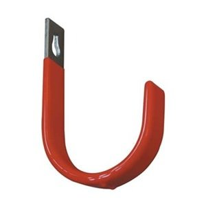 Industrial Grade 4ERV9 Steel Hook, Red Vinyl Coated, 9 in L